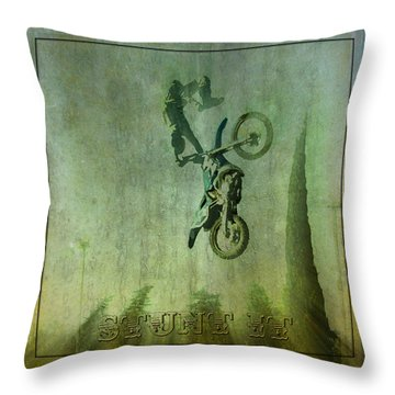 Stunt It Throw Pillow by Barbara R MacPhail