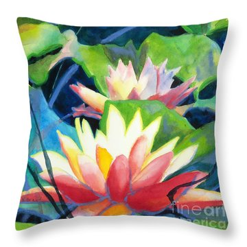 Styalized Lily Pads 3 Throw Pillow