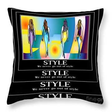 Style Throw Pillow by Kim Peto