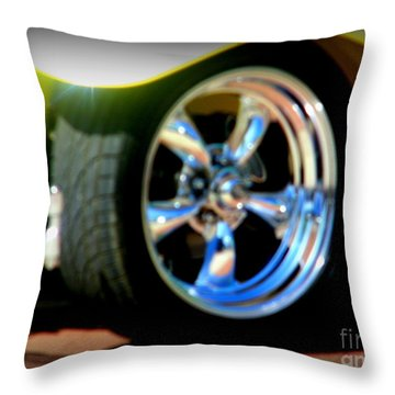 Throw Pillow featuring the photograph Stylin' Wheels by Bobbee Rickard