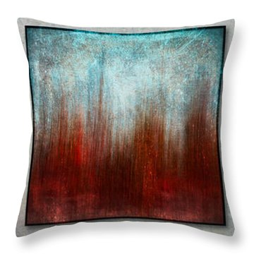 Stylized Beach Grasses Throw Pillow