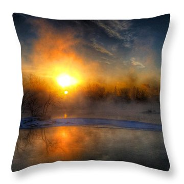 Sub Zero Sunrise Throw Pillow