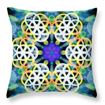 Subatomic Orbit Throw Pillow
