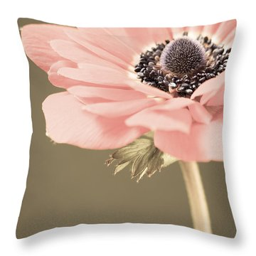 Subdued Anemone Throw Pillow