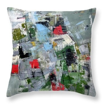 Throw Pillow featuring the painting Sublet by Katie Black