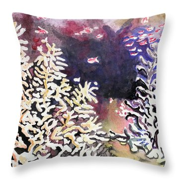 Submerged Crystals Throw Pillow