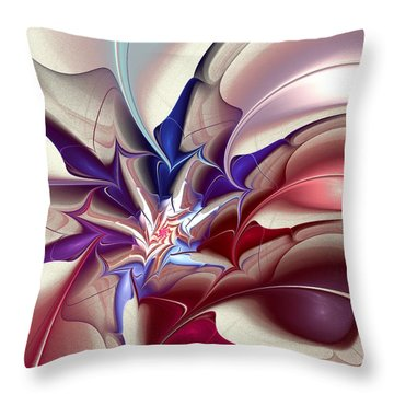 Subspace Fracture Throw Pillow by Anastasiya Malakhova
