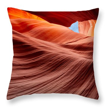 Subterranean Waves Throw Pillow