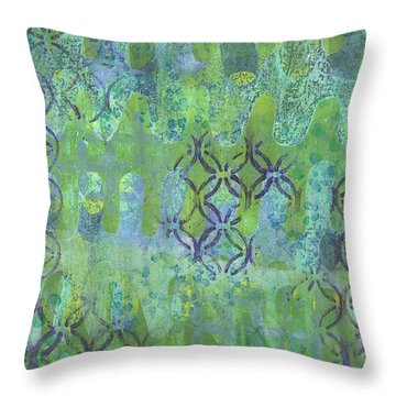 Throw Pillow featuring the mixed media Subtle 1 by Lisa Noneman