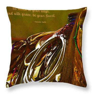 Subtle In Your Ways Throw Pillow