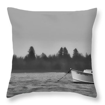 Throw Pillow featuring the photograph Subtle Mooring by Richard Bean