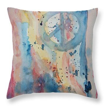 Subtle Peace Throw Pillow
