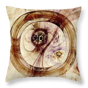 Subtle Ring Throw Pillow by Anastasiya Malakhova