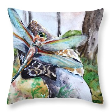 Subtle Shimmer Throw Pillow by Beverley Harper Tinsley
