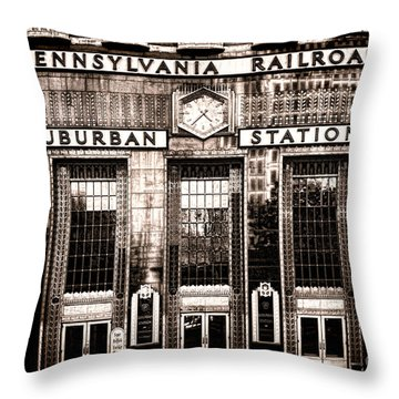 Suburban Station Throw Pillow by Olivier Le Queinec