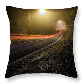 Suburbian Night Throw Pillow