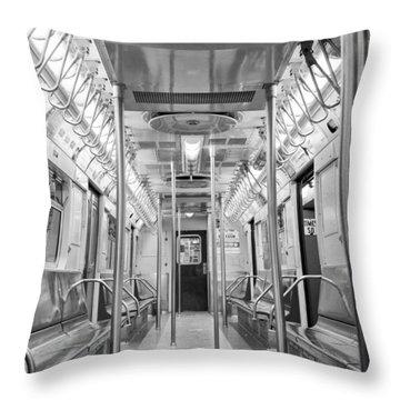New York City - Subway Car Throw Pillow
