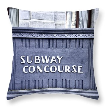 Subway Concourse At City Hall Throw Pillow by Bill Cannon