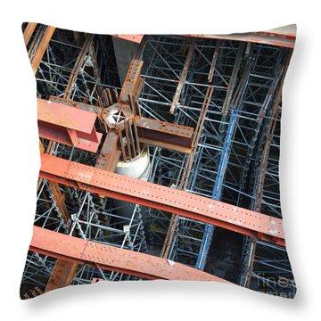 Subway Construction Site Throw Pillow
