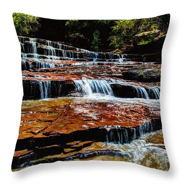 Subway Falls Throw Pillow