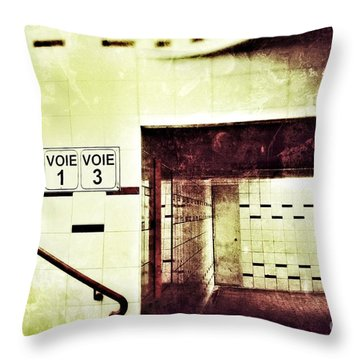 Throw Pillow featuring the photograph Subway  by Nick  Biemans