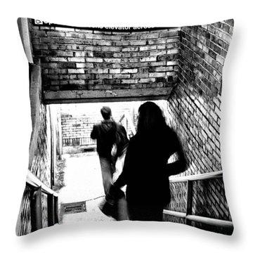 Subway Shadows Throw Pillow