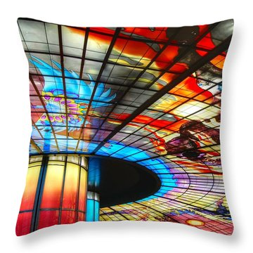 Subway Station Ceiling  Throw Pillow