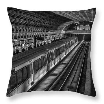 Subway Train Throw Pillow