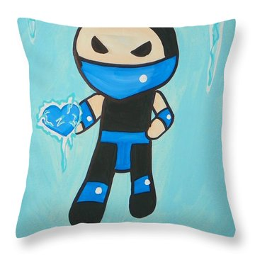 Subzero Frozen Heart Throw Pillow