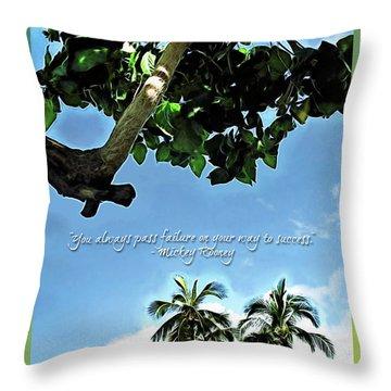Success And Failure Botanical Inspiration Throw Pillow by Joan  Minchak