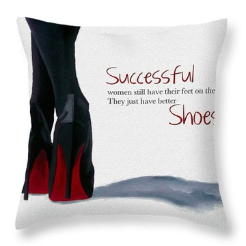 Successful Woman Throw Pillow