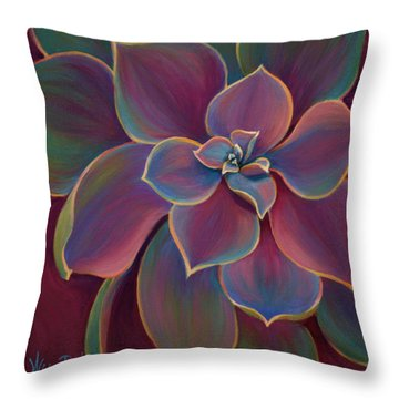 Succulent Delicacy Throw Pillow