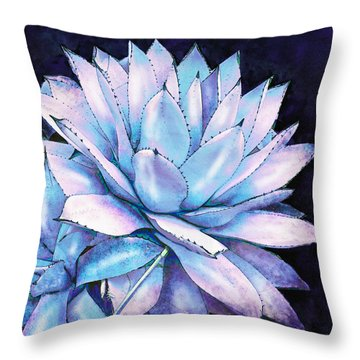 Throw Pillow featuring the digital art Succulent In Blue And Purple by Jane Schnetlage
