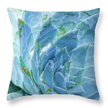 Succulent Swirl Throw Pillow