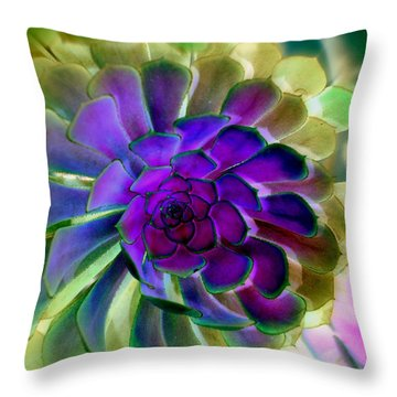 Succulent Transformation Throw Pillow