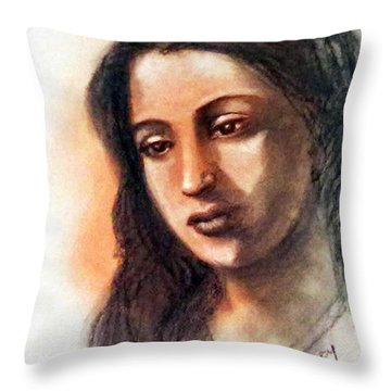 Suchitra Sen Throw Pillow