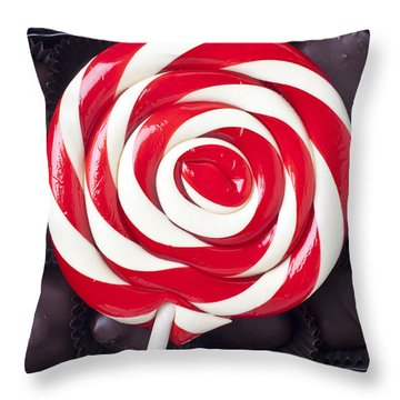 Sucker On Box Of Chocolates  Throw Pillow by Garry Gay