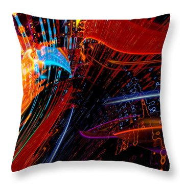 Sudden Celebration Throw Pillow by Margie Chapman