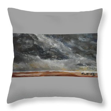 Sudden Storm Throw Pillow by Heather Kertzer