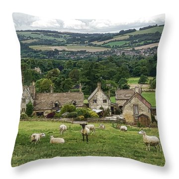 Sudeley Hill Farm Throw Pillow