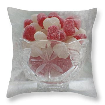 Sugar And Spice Love Red And White Throw Pillow