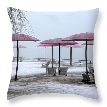 Sugar Beach Throw Pillow