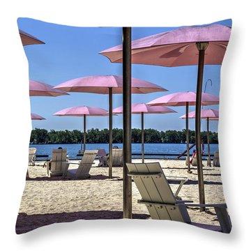 Sugar Beach Summer Throw Pillow