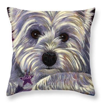 Throw Pillow featuring the painting Sugar by Bob Coonts