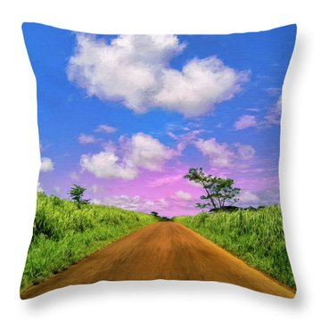 Sugar Cane Sunrise Throw Pillow