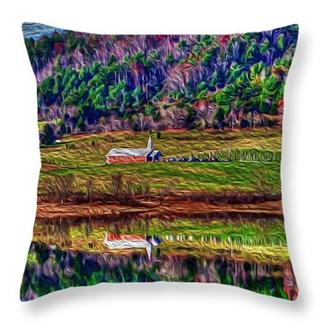 Sugar Grove Reflections 2 Throw Pillow