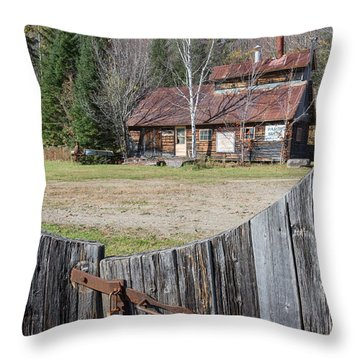 Sugar Shack Throw Pillow by Jola Martysz