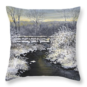 Sugared Sunrise Throw Pillow