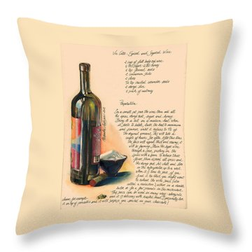Sugared Wine Throw Pillow by Alessandra Andrisani