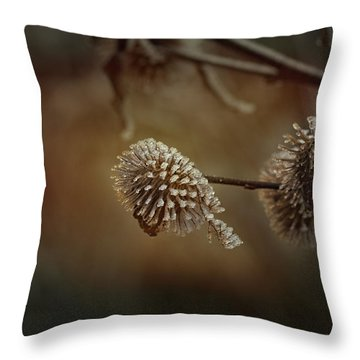 Sugarfrosted Thistle Throw Pillow
